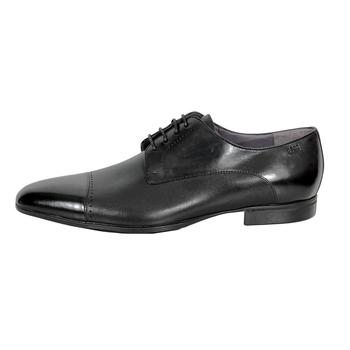 Hugo Boss shoes Neverf black leather toe cap dress shoes 50260586 BOSS3484