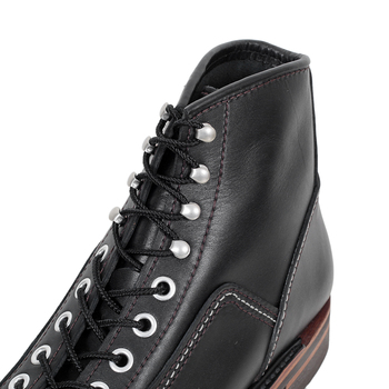 Lone Wolf Mens Black Leather Calf High Lace Up F01615 Goodyear Welted Carpenter Work Boots CANE4449
