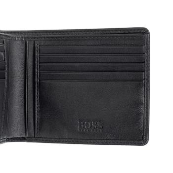 Hugo Boss mens Monist 50261706 black leather boxed wallet BOSS3467
