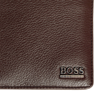 Hugo Boss mens Monist 50261706 brown leather boxed wallet BOSS3468