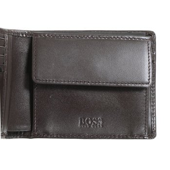 Hugo Boss mens Oddone 50273750 brown leather wallet gift set BOSS4401