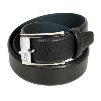 Hugo Boss mens Ellot S 50248643 black leather belt BOSS3275