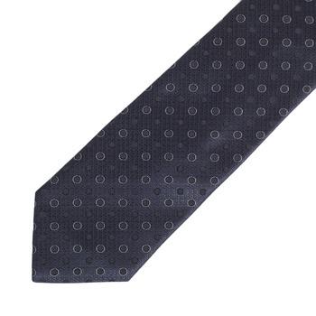 Hugo Boss mens navy spotted 50275319 silk tie BOSS4330