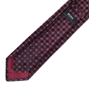 Hugo Boss mens red spotted 50273839 silk tie BOSS4332