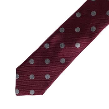 Hugo Boss mens burgundy spotted 50275023 silk tie BOSS4331