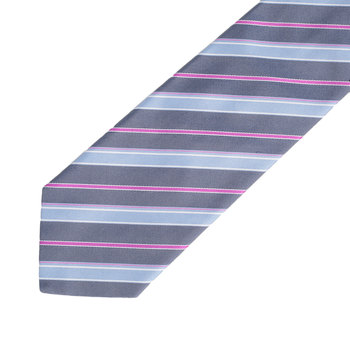 Hugo Boss mens blue striped 50247457 silk tie BOSS2628