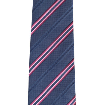 Hugo Boss mens blue striped 50250319 silk tie BOSS2626