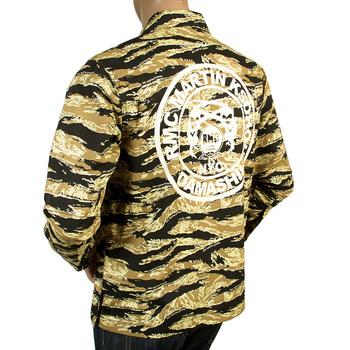 RMC MKWS Camo Sand Zipped RQZ13097 Regular Fit Logo Printed Cotton Jacket REDM4134