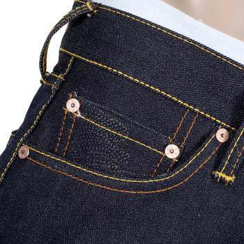 RMC Jeans Super Exclusive Toyo Story the Sea Embroidered Vintage Dark Indigo Raw Selvedge Jeans REDM9079