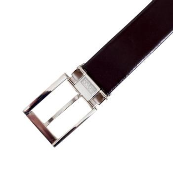 Hugo Boss mens Glenos 2 buckle reversable boxed leather belt set BOSS4486