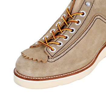 Lone Wolf Mens Beige Suede F01616 Calf High Lace Up Goodyear welted Hunter Work Boots CANE4474