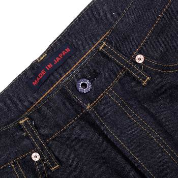 RMC Martin Ksohoh 1011 Mens Indigo Raw Denim Black Bushi Embroidered Slim Fit Jeans by RMC2755