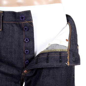 RMC Martin Ksohoh 1011 Indigo Slim Fit Silver Bushi Embroidered Japanese Raw Selvedge Denim Jeans RMC2759