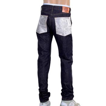 RMC Martin Ksohoh Indigo Selvedge Slim Fit 1111 Model Embroidered Silver Bushi Raw Denim Jeans RMC2772
