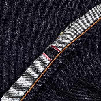 RMC Slim Fit Indigo Model 1111 Raw Selvedge Denim Jeans with Silver Bushi Embroidery RMC2772