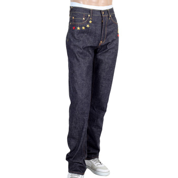 RMC Jeans Mens 4A V1 Slim Indigo Raw Japanese Selvedge Denim Jeans With Gold 4A Embroidered Back Pockets RMC1919
