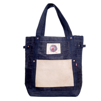 RMC Martin Ksohoh RQA14028 Custom Made Large Denim Leather Bag REDM4426