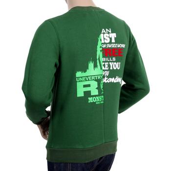 RMC Martin Ksohoh RQS14094 Crewneck Regular fit Custom Made Cotton Green Mix Logo Printed Sweatshirt REDM4425