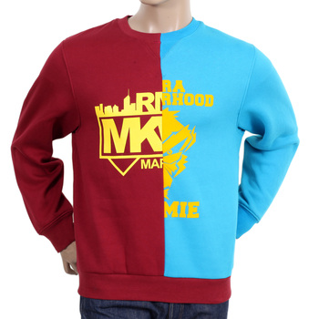 RMC Martin Ksohoh RQS14094 Cotton Red and Blue Cotton Crew Neck Sweatshirt REDM4423
