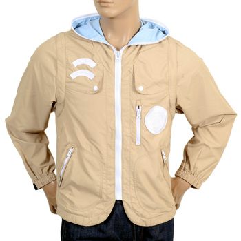 RMC Martin Ksohoh Mens Two Way RQJ14046 Beige Functional Nylon Jacket with Removable Sleeves REDM4419