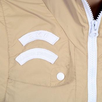 RMC Jeans RQJ14046 Mens Reversible Nylon Removable Sleeves Functional Jacket in Beige with Hood REDM4419