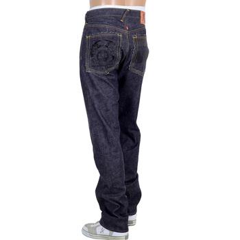 RMC Martin Ksohoh Mens Raw Indigo Selvedge Denim Jeans with Black 4A FM Union Embroidery RMC2190