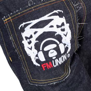 RMC 4A Band Embroidered FM Union Japanese 1001 Slim Model Indigo Raw Selvedge Denim RMC1932