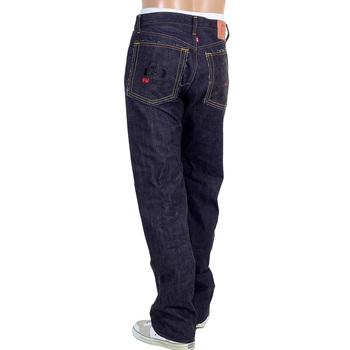 RMC 4A FM Union Embroidered Indigo Raw Selvedge 1001 Slim Cut Denim Mens Jeans RMC1937