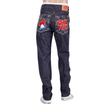 RMC Mens Selvedge Denim Indigo RQP14038 Fuji Rock Festival 1001 Slim Cut Jeans RMC4144