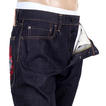 RMC Japanese Selvedge Indigo Raw Slimmer Model 1011 ORJ Machine Denim Jeans REDM4461