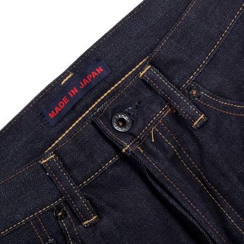 Raw Selvedge Denim Jeans with Embroidered Back Pockets