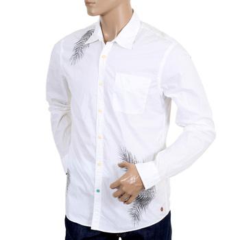 Scotch & Soda mens white long sleeve shirt SCOT3660