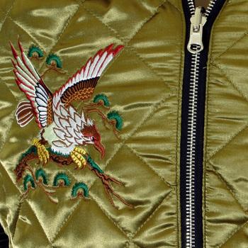 e8b25981e13 Yoropiko RMC Exclusive Design Tiger Embroidered Black and Gold Fully  Reversible Souvenir Japan Jacket YORO5662