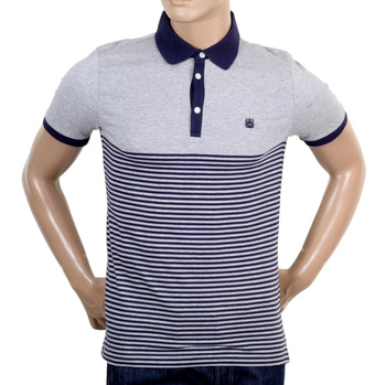 Aquascutum Striped Navy Polo Shirt AQUA4840