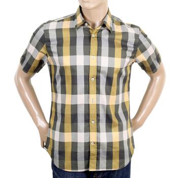 Aquascutum Green Scaled Mens 100% cotton shirt AQUA4433