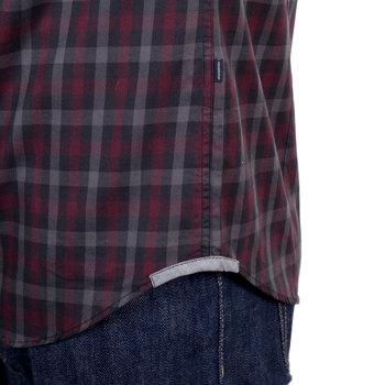 Burgundy Cotton Aquascutum check shirt AQUA4429