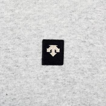 Grey Cotton Crew Neck Sweatshirt by Descente DESC3649