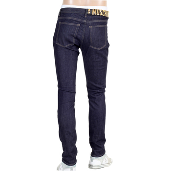 Moschino mens denim jeans with gold logo letters MOSM4806