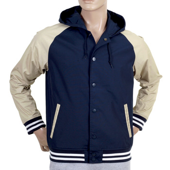 Carhartt Navy Campbell Hooded Jacket with Beige Sleeves CARH4960