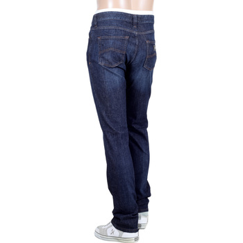 Stretch Blue Denim Medium Waist J15 Regular Fit Straight and Tight Leg Jeans for Men by Armani Jeans GAM5085