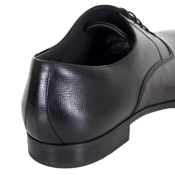 Almond Toe Black Leather Derby Shoes by Hugo Boss BOSSn5803