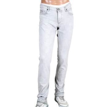 Versace Washed Grey Slim Fit Jeans with Stylish VJ Emblem Logos VERSn6150