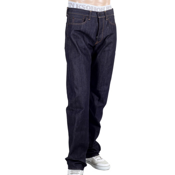 RMC Indigo RQP14137 Slimmer 1001 Model Raw Selvedge Jeans with  Koi Carp Embroidery on Back Pocket REDM5066