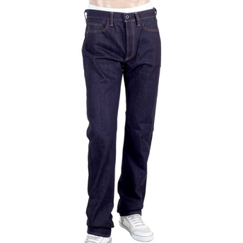 RMC Mens 1011 Model RQP14121 Selvedge Denim Jeans with Gold Dragon and Tsunami Wave Embroidery REDM4458