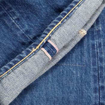 Japanese Selvedge 14 oz Denim 1 Star 10 Year Aged Wash SC41501R Slim Fit Jeans for Men by SugarCane CANE6511