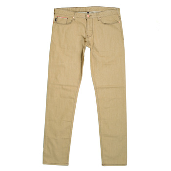 Armani Slim Fit J06 Slightly Stretched Cotton Beige Jeans with Low waist Tight Leg and Zip Fly AJM5973