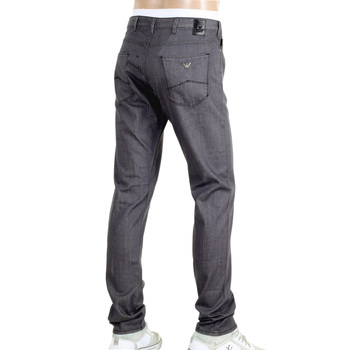 Armani Mens Slim Fit J06 Grey Denim Jeans with a Low Waist Tight Leg and Zip Fly AJM5974