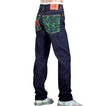 RMC Jeans Genuine Raw Selvedge Dark Indigo 1001 Model Super Exclusive Red Star Jeans REDM0016