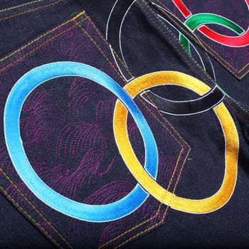 RMC Jeans Super Exclusive McDonalds Limited Edition Vintage Cut 2008 BEIJING OLYMPICS Raw Denim Jeans REDM0133