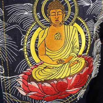 RMC Martin Ksohoh Exclusive Amida Nyorai YEAR OF THE DOG Embroidered Indigo Raw Selvedge Denim Jeans REDM3090
